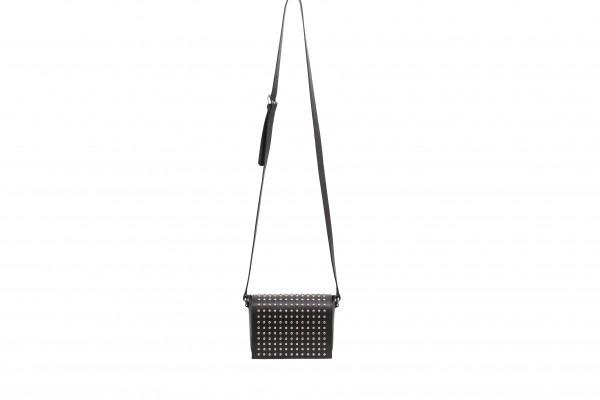 abro Handtasche Leder LOTUS MIT NIETEN - black/nickel