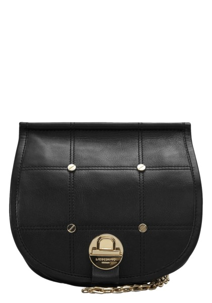 LIEBESKIND Saddle Chain Shoulder Bag Medium - black