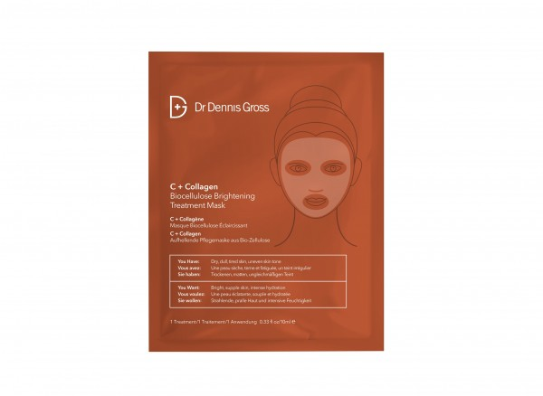 Dr. Dennis Gross C+Collagen Biocellulose Brightening Mask