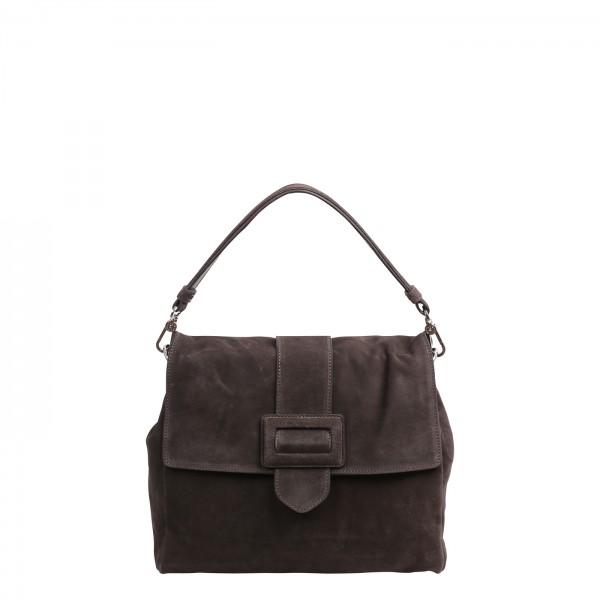 abro Handtasche Leder CASHMERE - grey